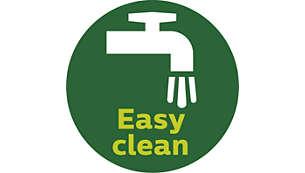 Dengan tombol Bersih cepat agar cepat & mudah dibersihkan