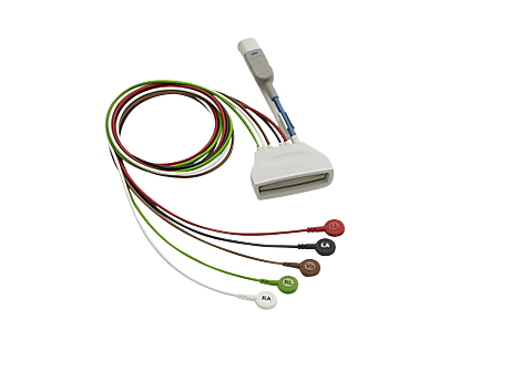 Patient Cable ECG 5 lead Snaps Telemetry Lead Set