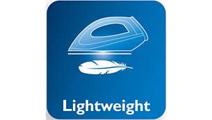 Optimal weight for easier manoeuvrability over your garments
