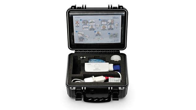Smart guide setup walks patient through sensor placement