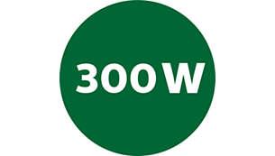 Powerful 300 W motor
