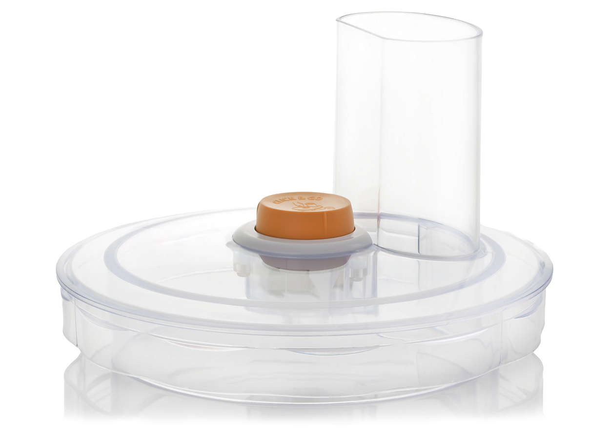 To cover your food processor's bowl