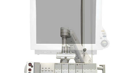 IntelliVue MP60/70:  Dual Channel Ceiling Mount Column - For use with GCX MP60/70 Wall Mounting Opti