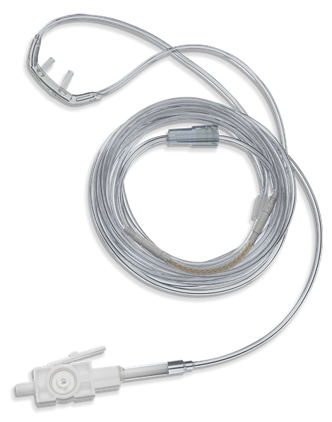 CO2 Nasal Cannula, long-term, Pediatric Capnography