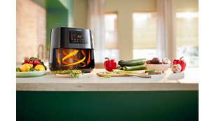 Cocina saludable con la tecnología Rapid Air