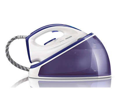 Ironing faster with twice as much steam**