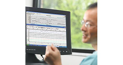 Rozwiązanie do oceny punktowej Somnolyzer 24x7 w diagnostyce snu Oprogramowanie do oceny punktowej snu