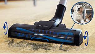 Turbo krtača, popolna za odstranjevanje (živalskih) dlak in puha