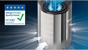 Il filtro HEPA cattura il 99,97% delle particelle di 0,003 micron