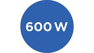 Powerful 600 W motor