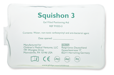 "Squishon 3 Gel Pillow (6"" x 9"") Infant Positioning Aid - Disposable Cover"