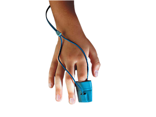 Reusable, pediatric/small adult SpO₂ glove sensor