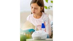 Suministra aerosol a las vías respiratorias alta y baja