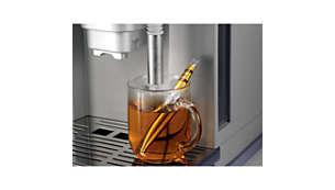 Hot water dispenser for hot beverages