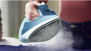 Dampstøt på opptil 180g som fjerner gjenstridige skrukker