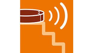 红外线传感器帮助它自动移动以避开楼梯