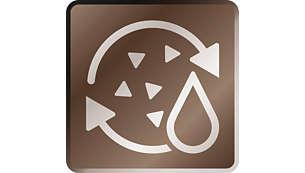 Užívejte si skvělou kávu díky funkci automatického oplachování aodstraňování vodního kamene