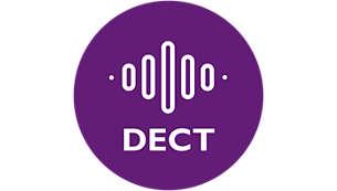 Perfekter klarer Klang dank DECT-Technologie