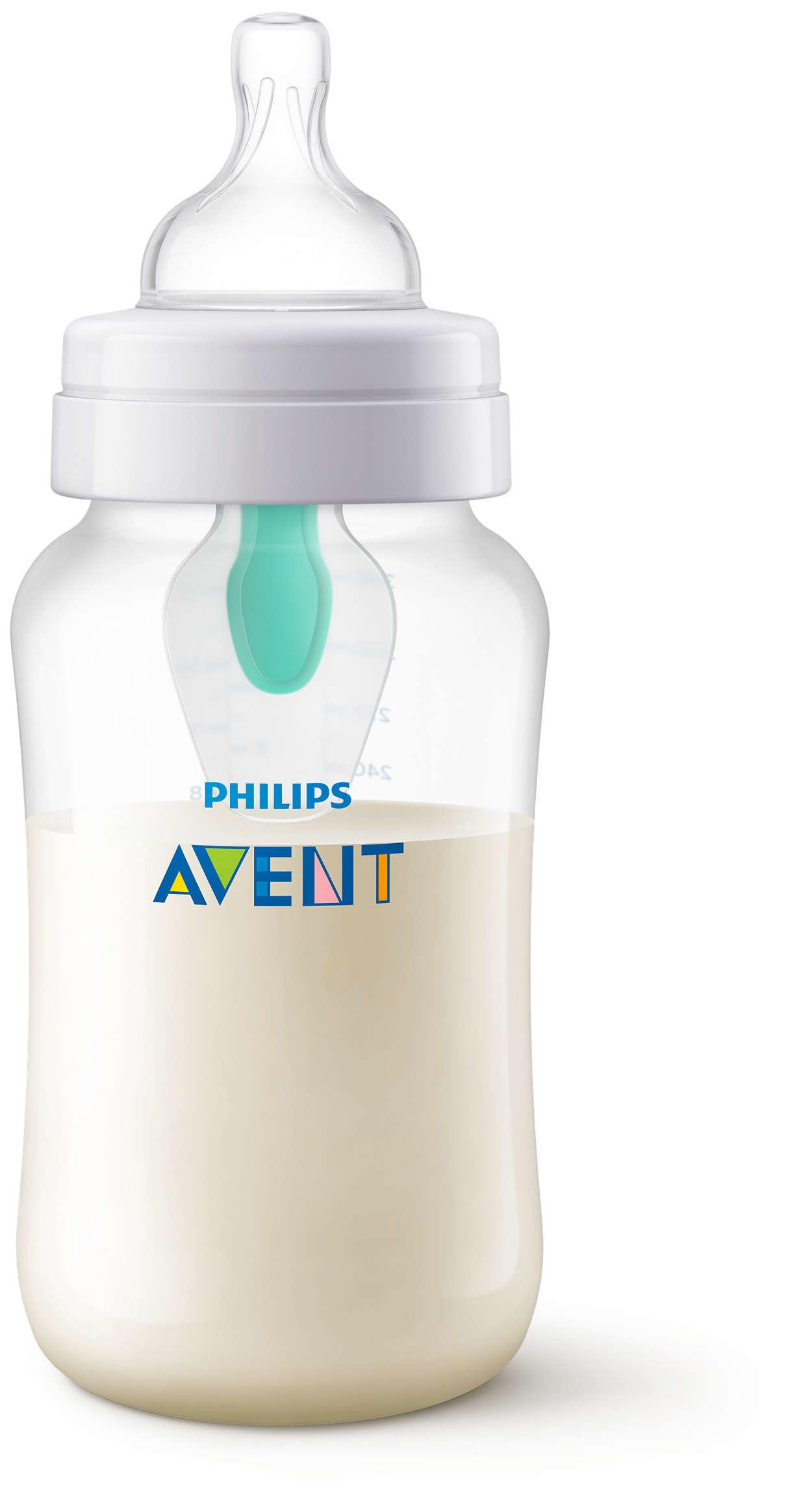 Diseñado para reducir los cólicos, gases y reflujo*