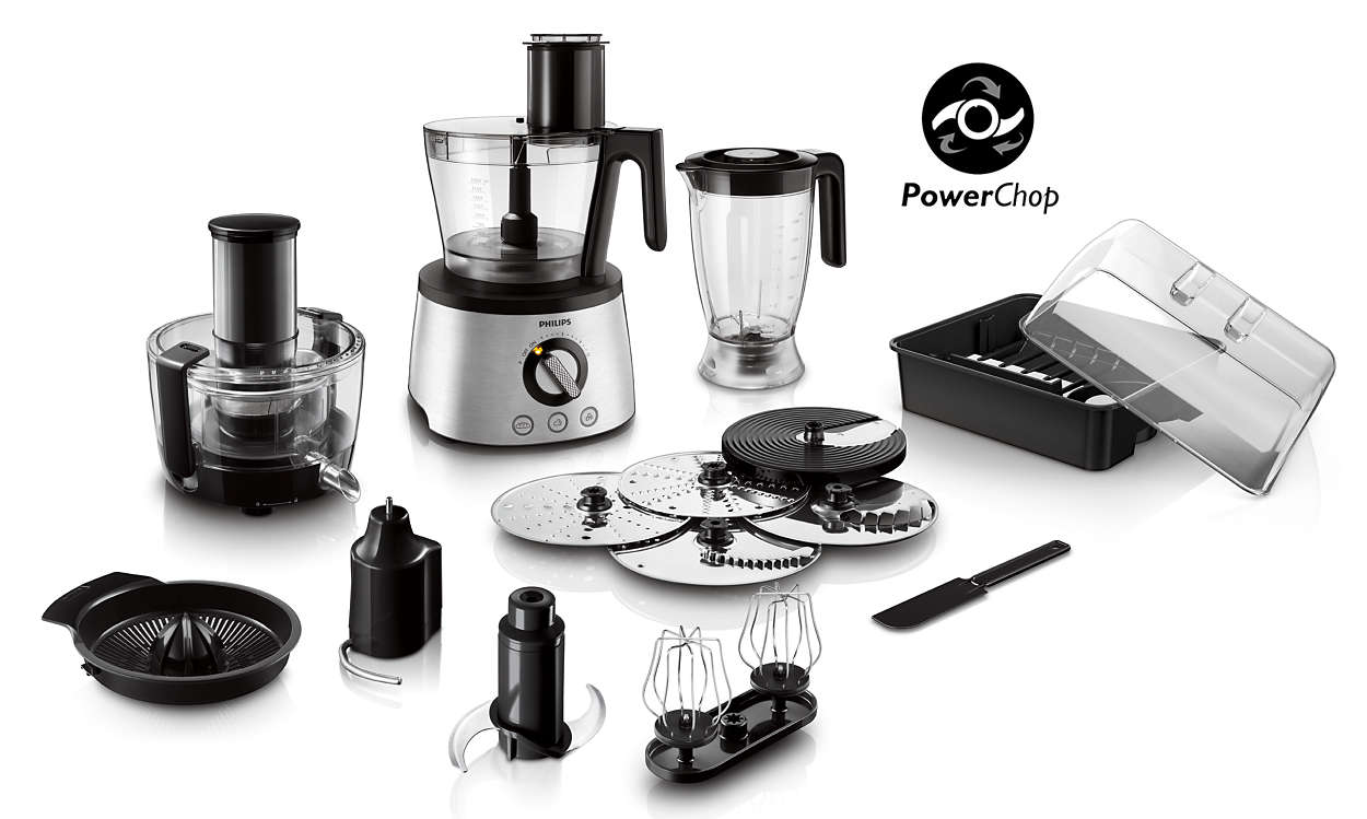 Chop, slice, shred, knead, whip and blend