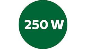 Alto nivel de rotación con motor de 250W para obtener el mejor resultado