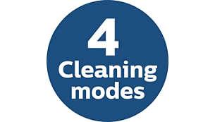 4режима для уборки различных участков