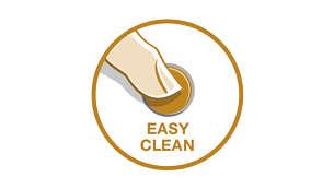 Tlačítko snadného čištění zaručuje pohodlné čištění