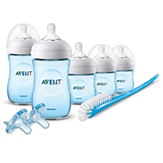 SCD206/12 Philips Avent Natural Baby Bottle Blue Gift Set