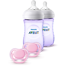 SCD113/23 Philips Avent Natural Baby Bottle Purple Gift Set
