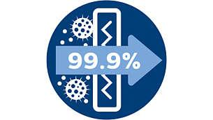 Antialergijski filtar zadržava više od 99,90 % sitne prašine