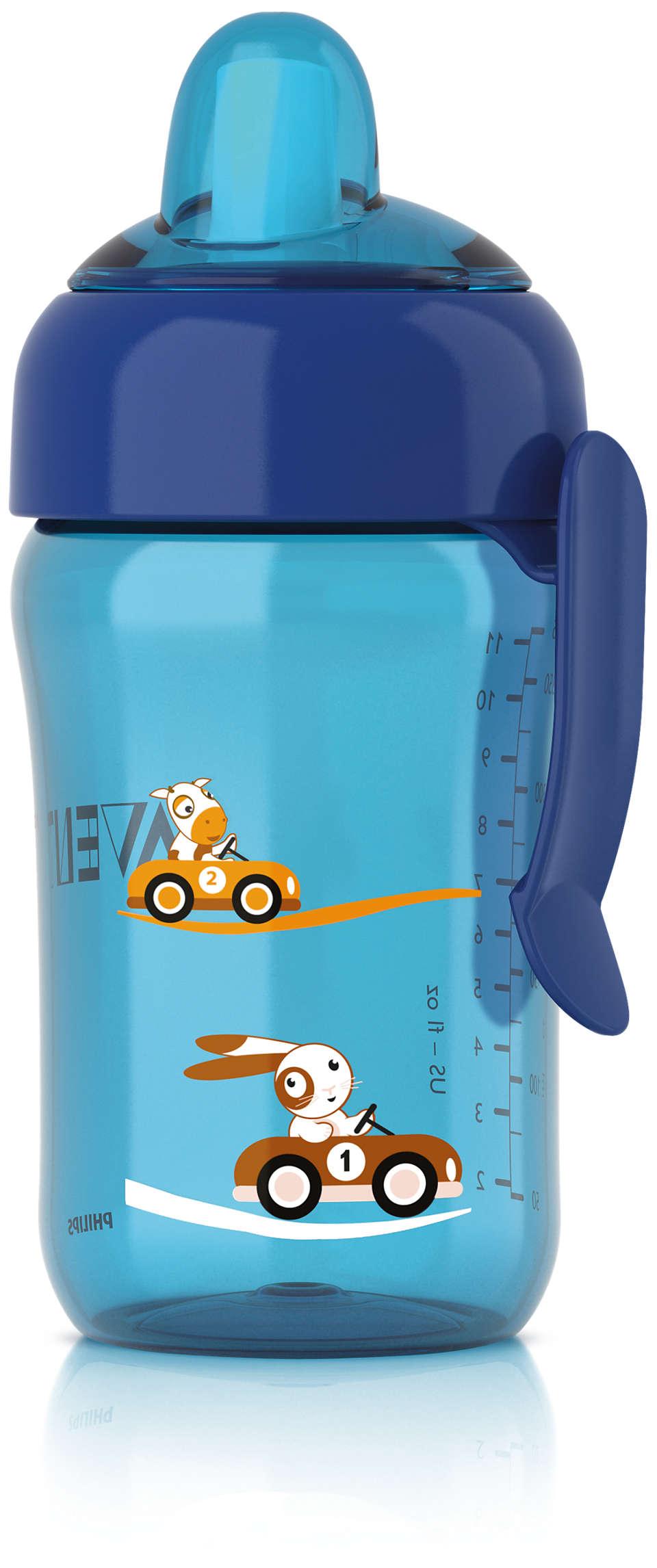 Con la válvula antigoteo, vaso limpio en cualquier parte