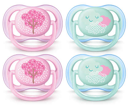 A light, breathable pacifier