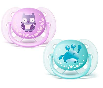 Une sucette très douce pour la peau sensible de votre bébé