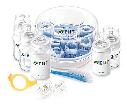 Bottle feeding and sterilising essentials