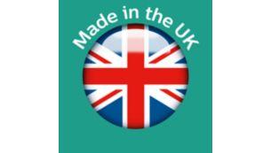 Сделано на нашем удостоенном наград заводе в Великобритании