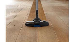 TriActive 吸嘴在各种地板上均可实现出众清洁效果