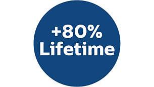 80% longer lifetime than traditional vacuum bags