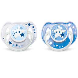 Avent Nighttime Pacifier 6-18m, 2 pack