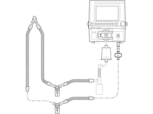 Esprit/V200 Reusable Ventilator Circuit