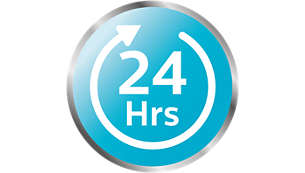 Innehållet hålls sterilt i upp till 24 timmar