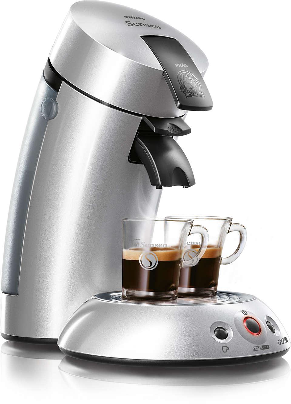 O melhor do seu café, ao toque de um botão