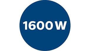 強勁 1600 瓦摩打帶來非凡清潔效果