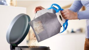 Reusable dust bag for easy use