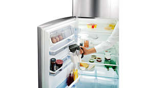 Easy storage in refrigerator door