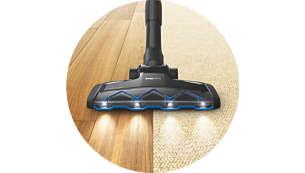 Usisni nastavak TriActive LED otkriva i čisti skrivenu prašinu