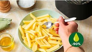 Frituur met tot wel 90% minder vet*