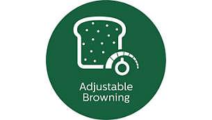Adjustable browning control