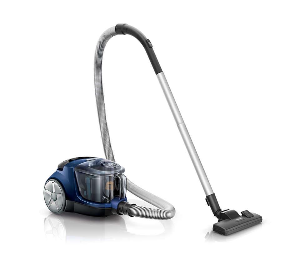 Mayor potencia de succión* para una mejor limpieza