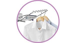 Можно повесить одежду после глажения: удобная вешалка