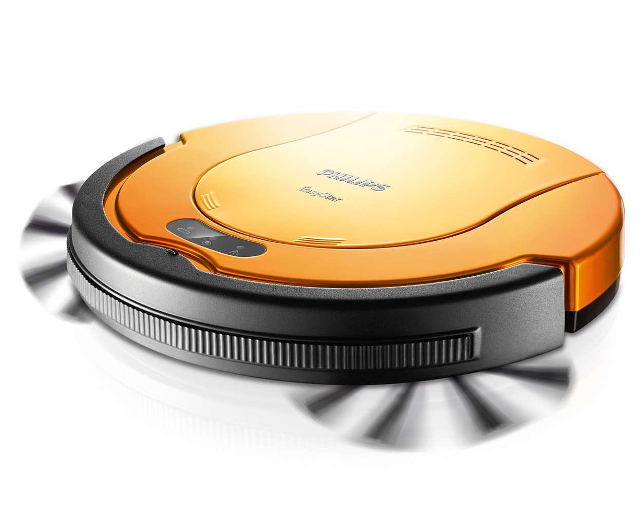 纤巧的自动真空吸尘器为您清洁地板